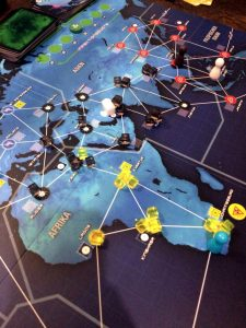 Pandemic Legacy März Spielsituation