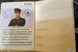 Pandemic Legacy Charakter Colonel