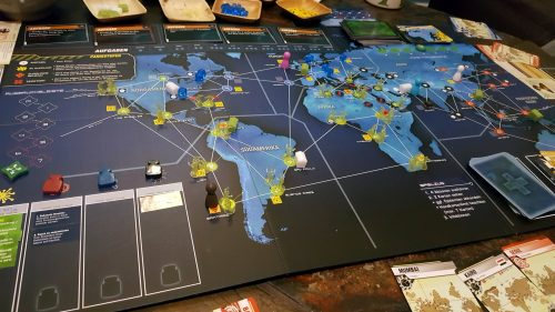 Pandemic Legacy Juli Spielsituation