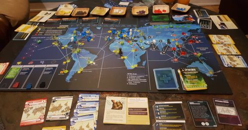 Pandemic Legacy, August: Spielsituation am Spielende