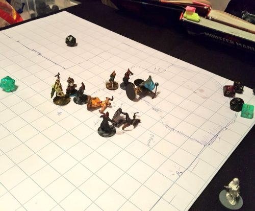Dungeons and Dragons Session Miniaturen
